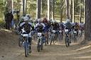 Start of Boggs III 8 Hour Mountain Bike Race