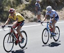 Kristin Armstrong (Cervelo - Lifeforce) and Amber Rais (TIBCO) still out front