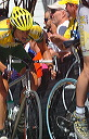 Mike Taylor (McGuire Pro Cycling) showing strain of Taylor street climb - 1:32 PM