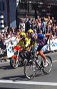 Fred Rodriguez (Aqua e Sapone) limps across line for second place - 2:34 PM