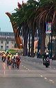 Lead group on Embarcadero - 7:32 AM