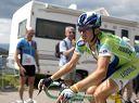 Dario Cioni (Liquigas) 5th to summit Le Ballon d'Alsace.