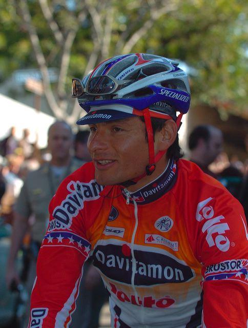 Fred Rodriguez (Davitamon-Lotto) before start in San Luis Obisbo.