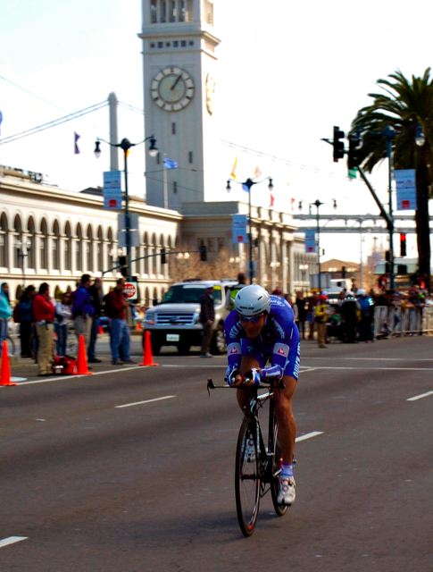 Leonardo Scarselli (QuickStep) near Ferry Building in San Francisco.