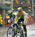 Michael Rogers (Columbia - High Road) and Vincenzo Nibali (Liquigas)
