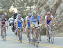 Lead group of George Hincapie (Columbia - High Road), Pieter Weening (Rabobank), Martin Elmiger (AG2R), Rinaldo Nocentini (AR2R) and Chris Baldwin (Rock Racing)