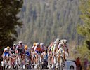 Rolling into Big Bear Lake group led by Tejay Van Garderen (HTC-Columbia) and Bernhard Eisel (HTC-Columbia)